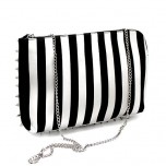 "Клатч ""B&W spike stripes"""